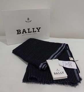 BRAND NEW Bally Blue Navy Mix Wool Jacqua Scarf