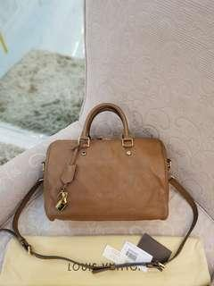 LV Speedy 30 Bandouliere Empriente Havane ❤BIG SALE P85k ONLY❤ Store Price P155k+++ Slightly used. Good as new condition  With dustbag cards long strap lock & key Length: 12 in Width: 7 in Height: 8 in Drop: 3