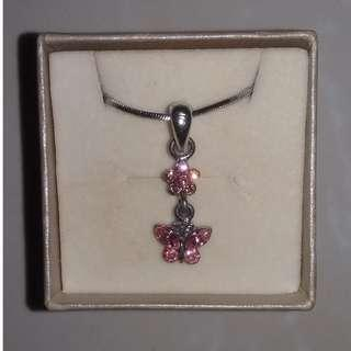 Chomel Pink Butterfly Necklace