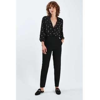 Topshop Black Cigarette Pants (Size 10)