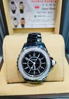 Chanel J12 黑面 陶瓷 原裝石圈女装錶