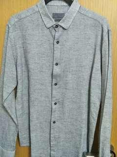 Zara long sleeve grey working shirt