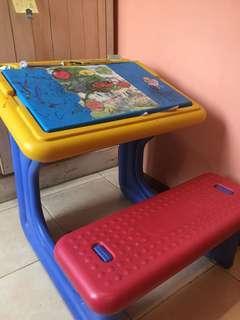 meja kursi belajar anak