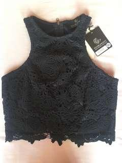 Doublewoot Navy Lace Top (BNWT)