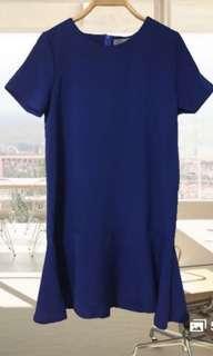 Blue Dropwaist Dress