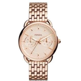 Fossil  Tailor Rose Gold Stainless Steels Ladies Casual Watch