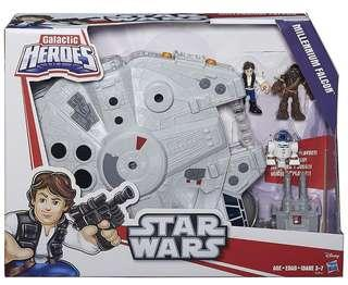 Playskool Heroes Star Wars Millenium Falcon Playset with Han Solo, R2D2 and Chewbacca