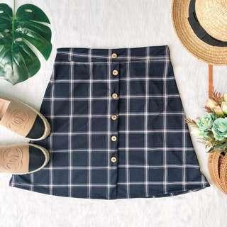 Plaid Buttom Down Skirt