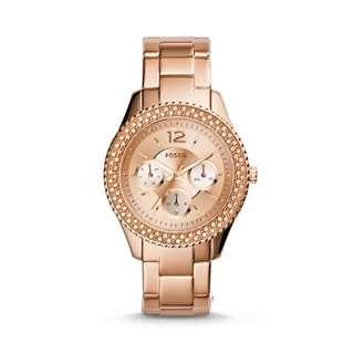 Fossil  Stella Multifunction Rose Gold Stainless Steel Ladies Watch
