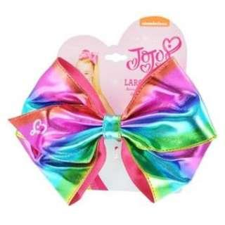 JoJo Siwa bow elastic band Rainbow