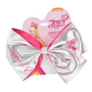 JoJo Siwa bow elastic band Silver Pink