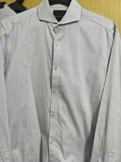 Benjamin Barker light purple long sleeve working shirt