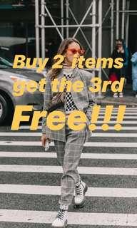 Buy 2 items get the 3rd FREE!!