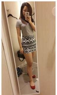 H&M skirt and crop top