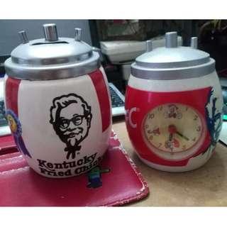 (Booked) Vintage 3 Dumex Kfc Jam & Mug