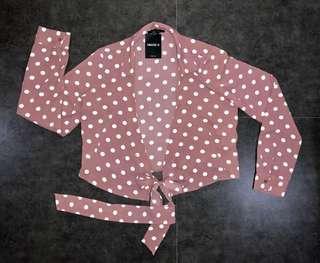 F21 Pink Polka Top