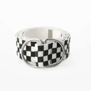 Unisex Checkered Belt