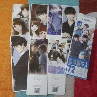 Love and Producer bookmark pembatas buku isi 72 item ready stock