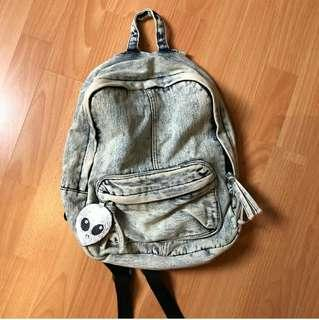Pull&Bear Denim Backpack
