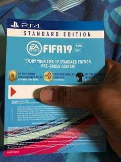 Fifa 19 FUT code (PS4)
