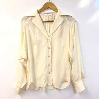 Chloe cream white silk top shirt size 36