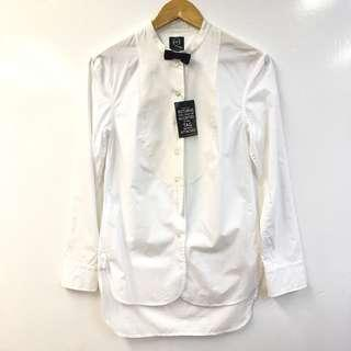 New MCQ white shirt with bow size 40