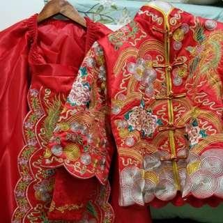 婚後物資 結婚用品 中式婚禮 新娘 裙褂 潮褂 秀禾服