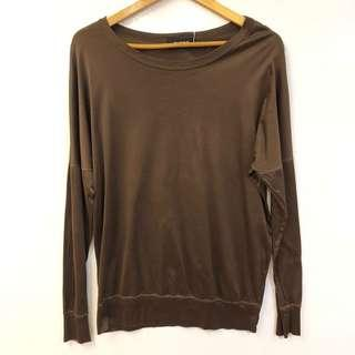 Zucca brown top sweater size M