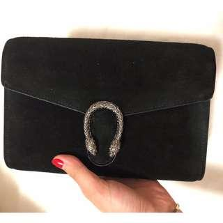 GUCCI Dionysus suede and leather shoulder bag