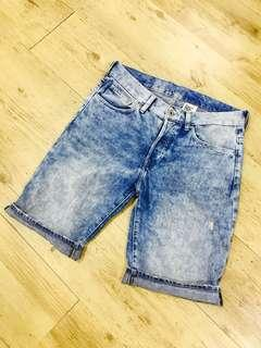 H&M STRAIGHT DENIM SHORT (MAN)