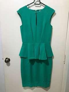 Closet Green Peplum Dress