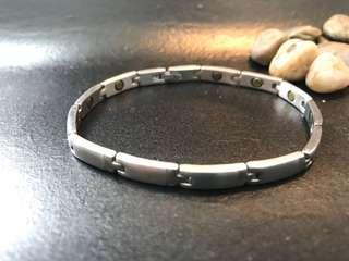 40% off titanium steel silver magnetic Bracelet