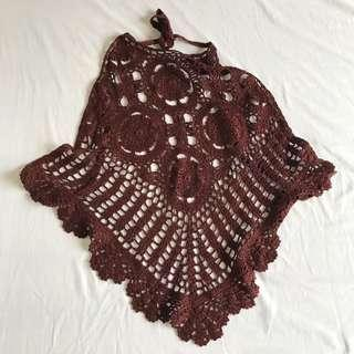 Knitted Beach Halter Cover Up