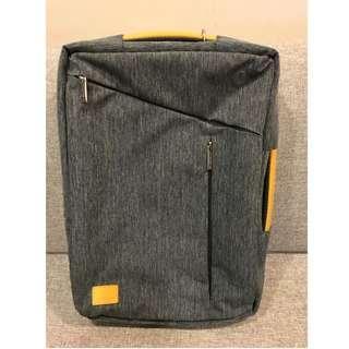 Gearmax 全新 混色灰 中性 3way 電腦包 後背包 斜背包 手提包