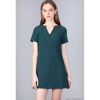 Hollyhoque Lourdes Shift Dress - Green (Petite)