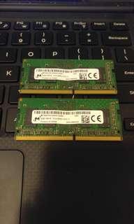 2條 Micron DDR4 2666MHz 4GB RAM
