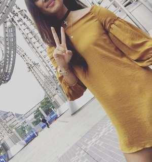 Bardot Mustard Dress (8)