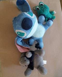 Stitch Line Frog Guyito Preloved Stuffed Toy