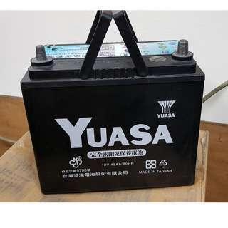 (二手中古電池) YUASA 55B24L-SMF 免保養汽車電池 數值漂亮,品項優