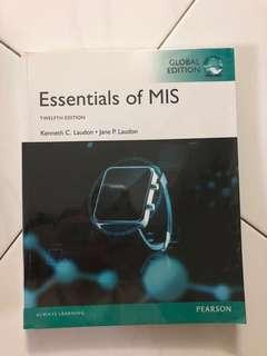 Essentials of MIS
