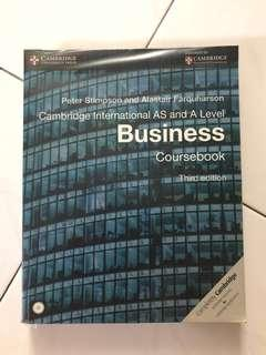 Cambridge International AS and A level Business Coursebook