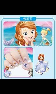 Preorder non toxic nail stickers for girls 👸