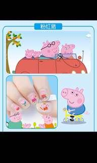 Preorder non toxic nail stickers for girls👸