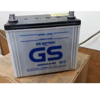 (二手中古電池) GS 46B24LS-MF 加水式汽車電池 數值漂亮,品項優