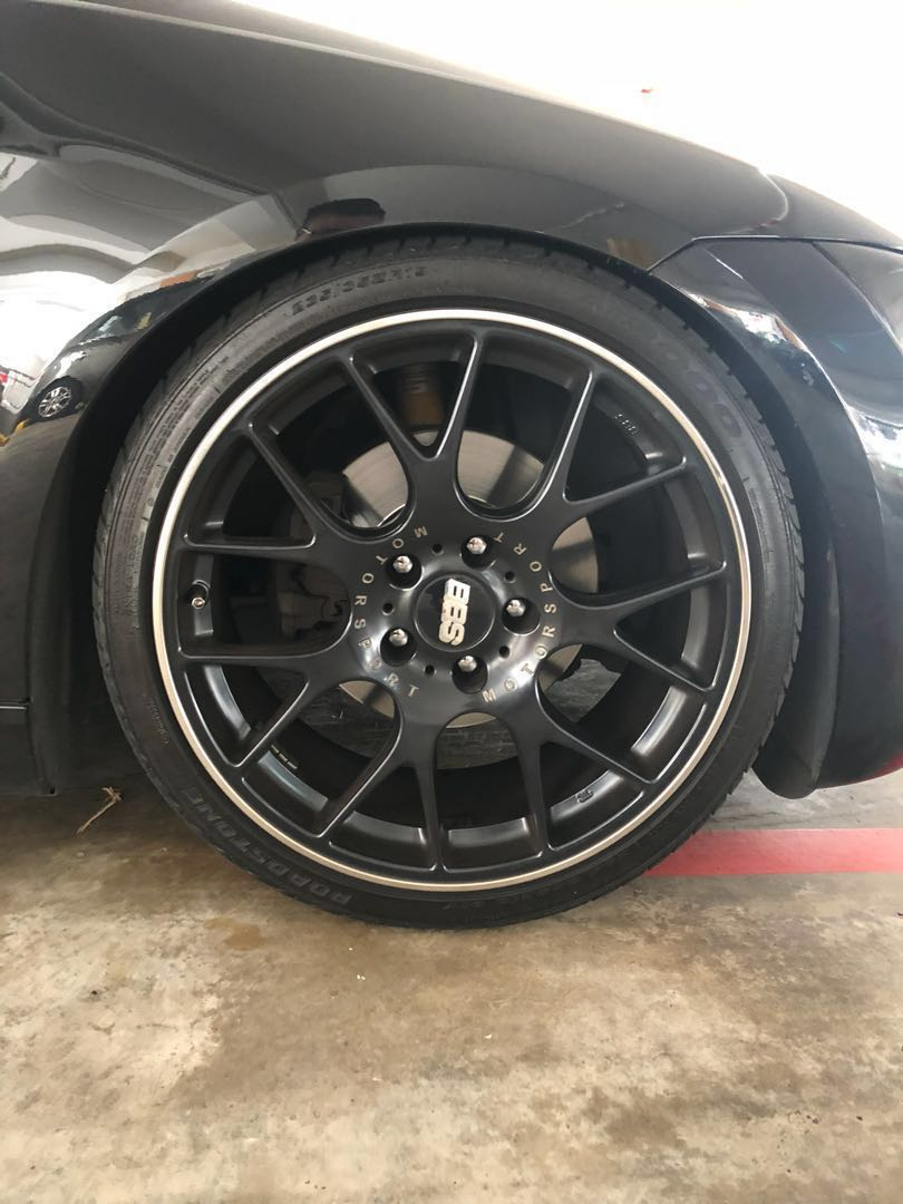 19 Bbs Ch R Black Staggered Car Accessories Tyres