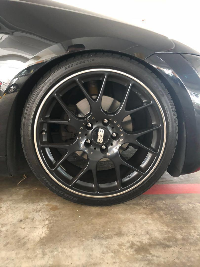 19 Bbs Ch R Black Staggered Car Accessories Tyres Rims On Carousell