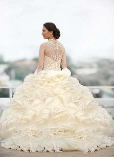Wedding gown formal gown debut gown