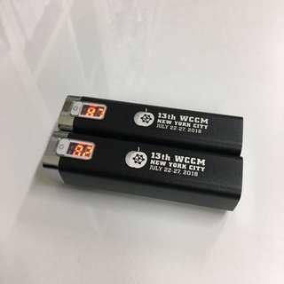 全新電子顯示電量行動電源2入