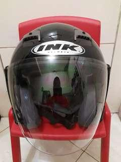 INK T Max Black mate double visor Half face