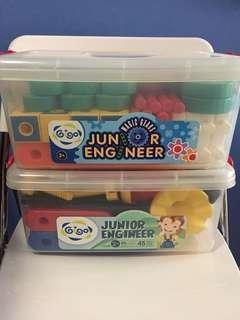 Gigo junior engineer set + magic gears set
